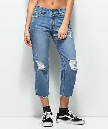 Empyre Cassia jeans de ajuste corto y recto con lavado azul