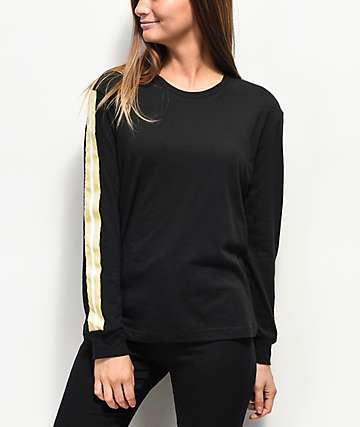 Empyre Cassie Yin Yang Black Tape Long Sleeve T-Shirt