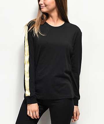 Empyre Cassie Yin Yang camiseta negra de manga larga