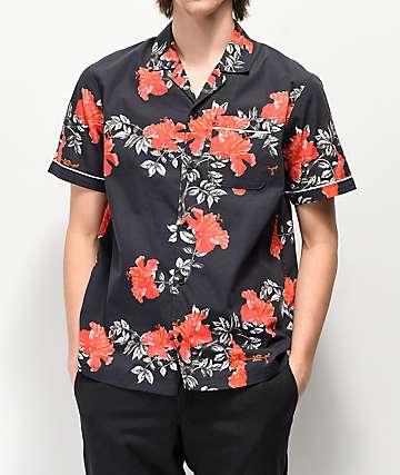Empyre Chase Black Short Sleeve Bowling Shirt