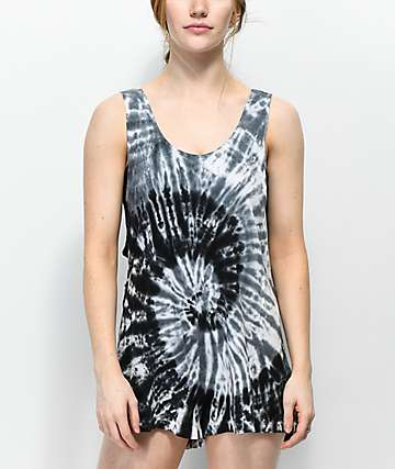 Empyre Chloe Black Tie Dye Swim Cover-Up