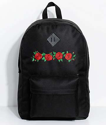 Empyre Chrissy Black Roses Backpack