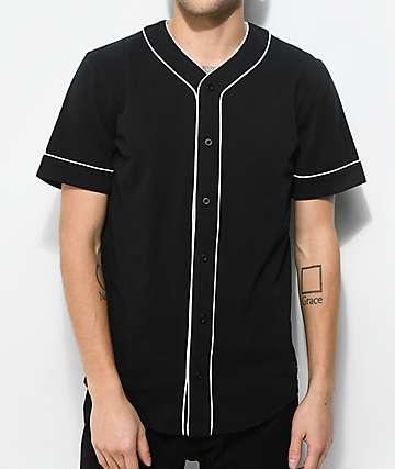 Empyre Chuck Black & White Baseball Jersey