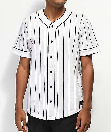Empyre Chuck White Pinstripe Baseball Jersey