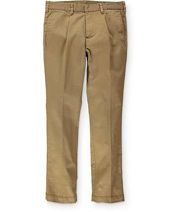 Empyre Classic Chino Pleated Dark Khaki Pants
