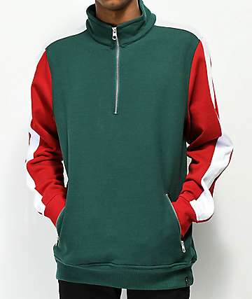 Empyre Cool Down Half Zip Mock Sweatshirt