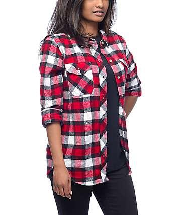 Empyre Cortland camisa de franela en rojo y negro