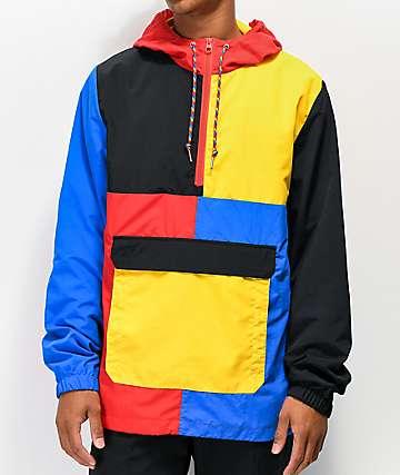 Empyre Crugo Blue, Red & Yellow Anorak Jacket
