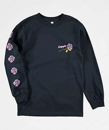 Empyre Death & Rose Dark Blue Long Sleeve T-Shirt