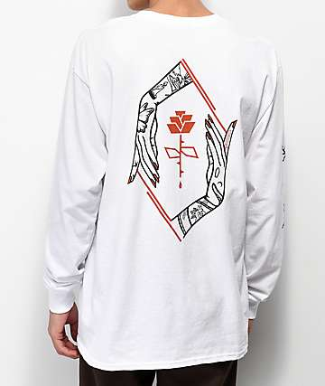 Empyre Defend The Rose White Long Sleeve T-Shirt