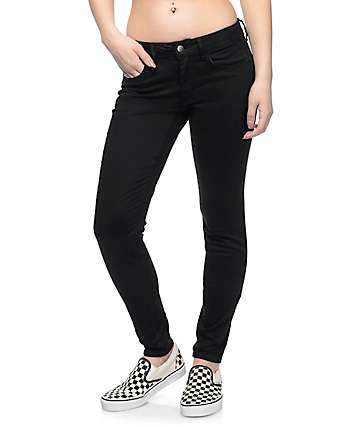 Empyre Delaney Black Sateen Skinny Pants