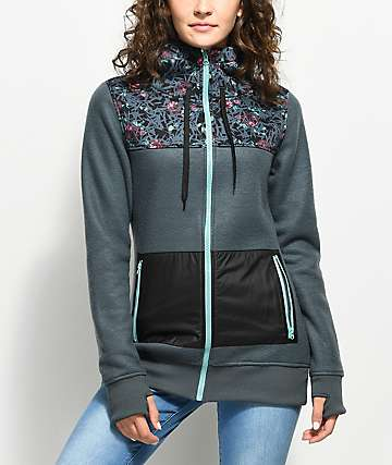 Empyre Delridge Navy Zip Up Fleece Jacket