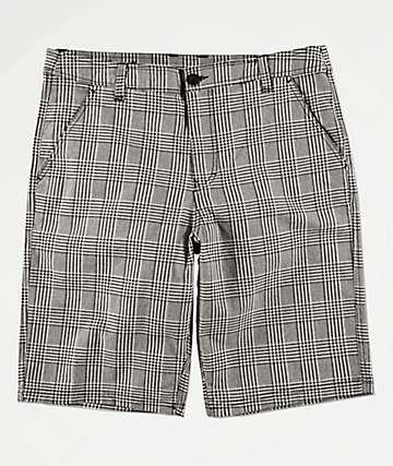 Empyre Derelict Grey & Black Plaid Shorts