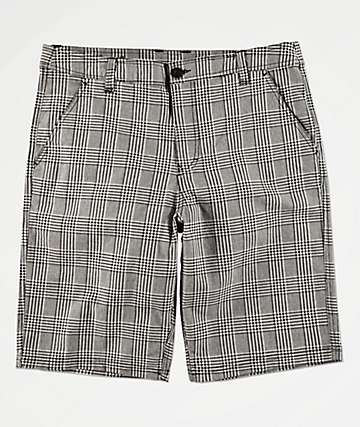 Empyre Derelict Grey & Black Plaid Shorts