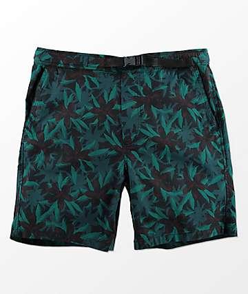 Empyre Dixon shorts con pretina elástica y estampado floral oscuro