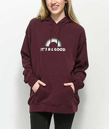 Empyre Dottie It's All Good Burgundy Hoodie