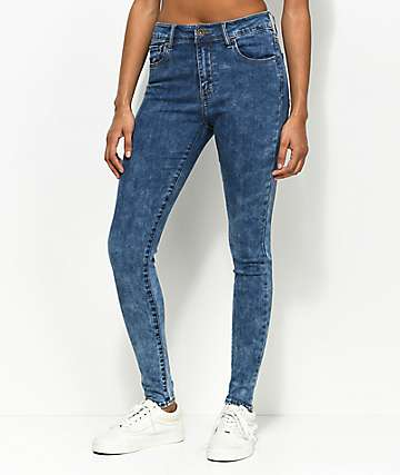 Empyre Drea High-Rise Acid Wash Jeggings