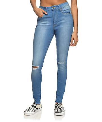 Empyre Drea High-Rise Blue Jeggings