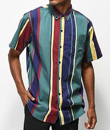 Empyre Drew Vertical Stripes Short Sleeve Button Up Shirt