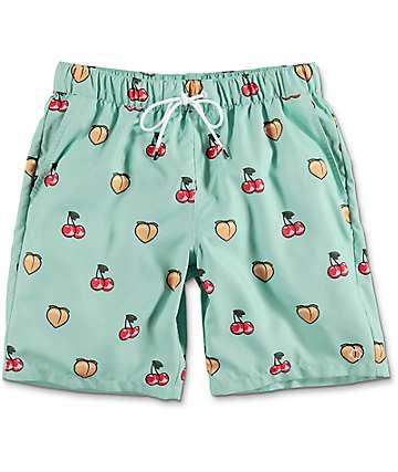 Empyre Dubtub Fruit Elastic Waist Mint Board Shorts