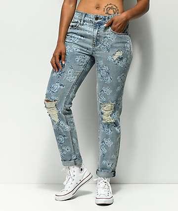 Empyre Easton jeans desgastados de flores