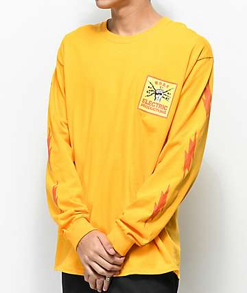 Empyre Electric Production Gold Long Sleeve T-Shirt
