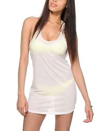 Empyre Elisa Grey Macrame Back Dress