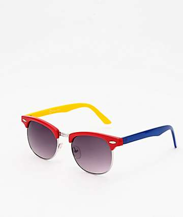 Empyre Emry Blue, Red & Yellow Sunglasses