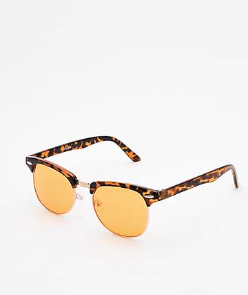 Empyre Emry Fashion Amber & Tortoise Transparent Sunglasses