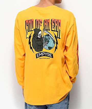 Empyre End Of An Era Gold Long Sleeve T-Shirt