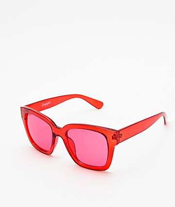 Empyre Eros gafas de sol transparentes en rojo