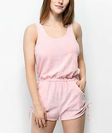 Empyre Esme Pink French Terry Romper