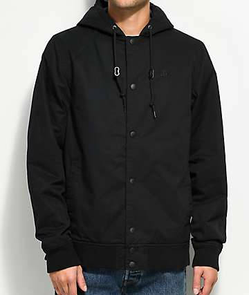 Empyre Extended Charcoal Hooded Bomber Jacket