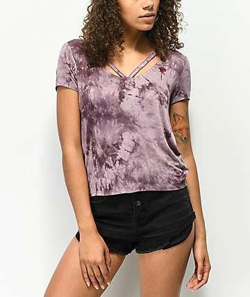 Empyre Fannie camiseta morada con efecto tie dye