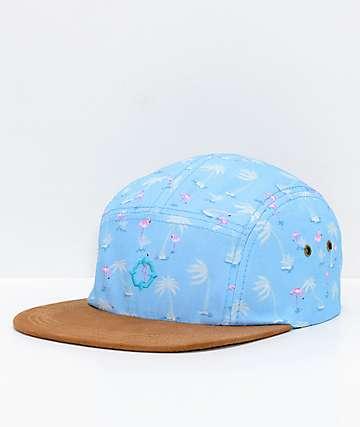 Empyre Flamingogo Blue 5 Panel Strapback Hat