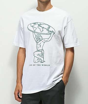 Empyre Flat Earth White T-Shirt