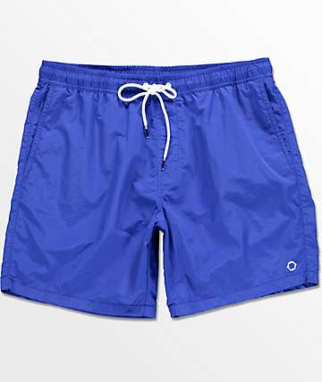 Empyre Floater board shorts con pretina elástica en azul