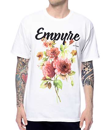 Empyre Floral Rose White T-Shirt