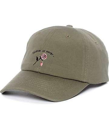 Empyre Forever Or Never Olive Green Strapback Hat