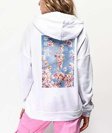 Empyre Fredia Cherry Blossom White Hoodie