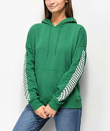 Empyre Fredia Never Ever suadera verde con capucha a cuadros