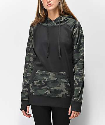 Empyre Frosty Camo & Black Tech Fleece Hoodie