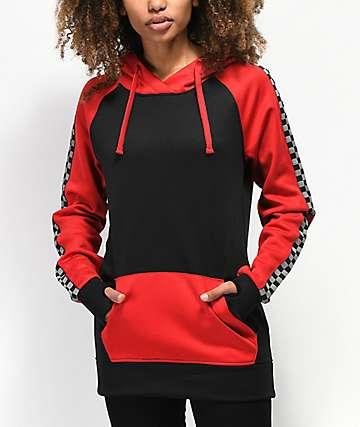 Empyre Frosty sudadera con capucha roja y negra