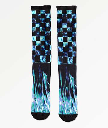 Empyre Fuegolezgo Black & Blue Crew Socks