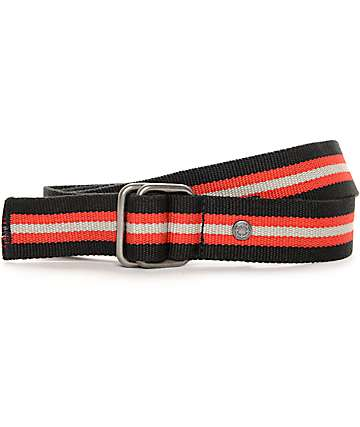 Empyre Fuse Black, Red, & Grey D-Ring Web Belt