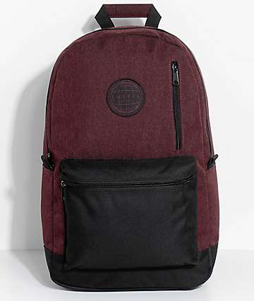 Empyre Gareth mochila en negro y color vino