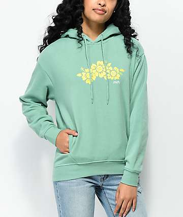 Empyre Gillian Meh Flowers Green Hoodie