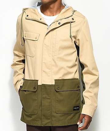 Empyre Glenn Khaki & Olive Military Jacket