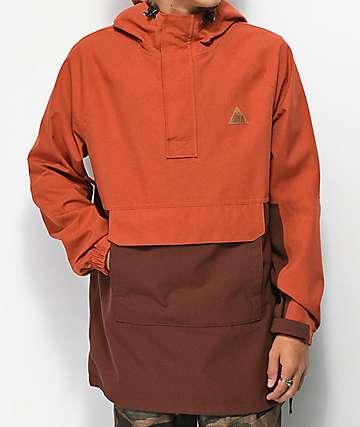 Empyre Glenwood Maroon Anorak 10K Snowboard Jacket