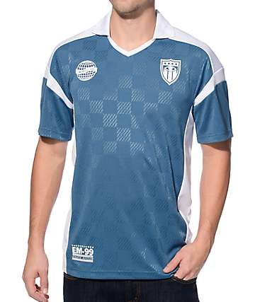 Empyre Goalie Blue and White Soccer Jersey